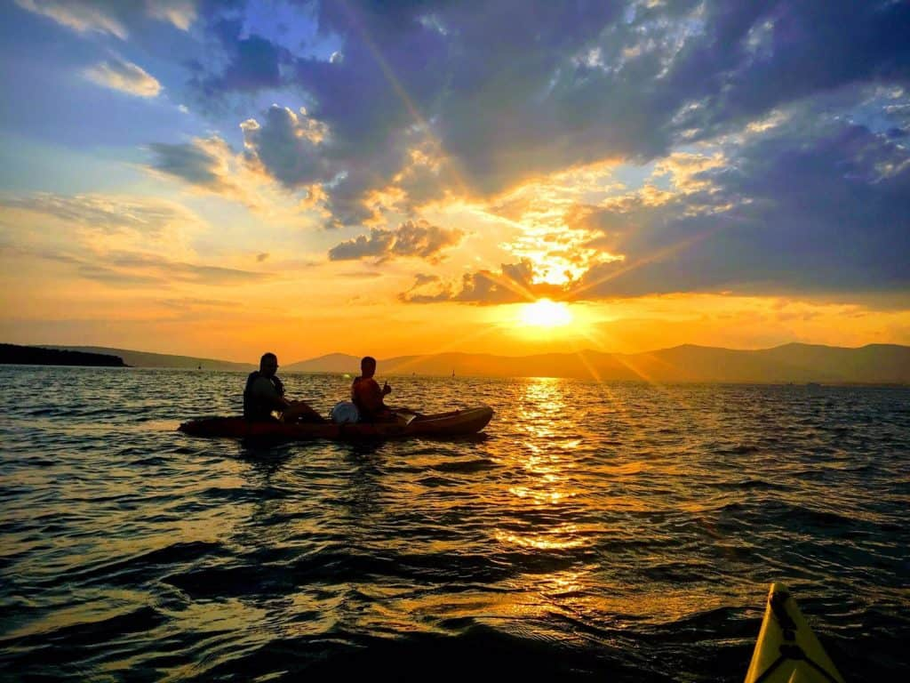 Sunset-kayaking-Split